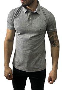 Camisa Polo Tommy Hilfiger Cinza