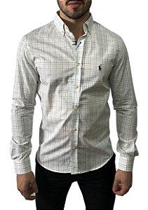 Camisa Ralph Lauren Xadrez Branca