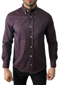 Camisa Tommy Hilfiger Bordô Furta-Cor