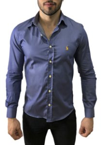 Camisa Ralph Lauren Azul Chumbo