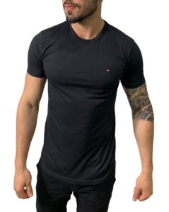 Camiseta Tommy Hilfiger Básica Preta