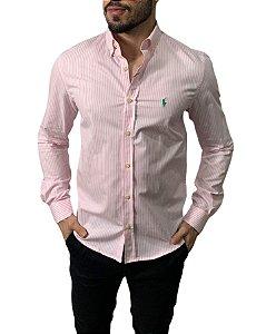 Camisa Ralph Lauren Listrada Rosa