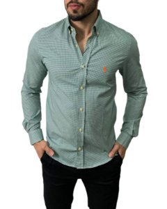 Camisa Ralph Lauren Micro-Xadrez Verde