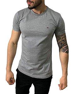 Camiseta Tommy Hilfiger Básica Cinza