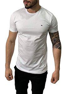 Camiseta Tommy Hilfiger Básica Branca