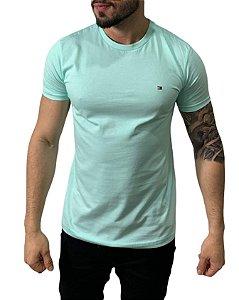 Camiseta Tommy Hilfiger Básica Azul Capri