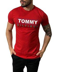 Camiseta Tommy Hilfiger Estampada Vermelha
