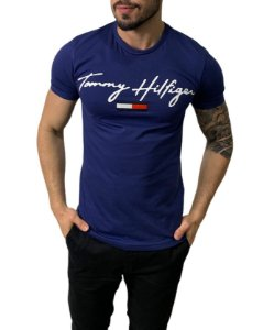 Camiseta Tommy Hilfiger Logo Azul Marinho
