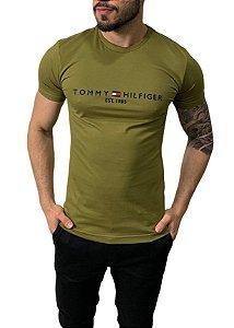 Camiseta Tommy Hilfiger 1985 Verde Oliva