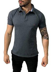 Camisa Polo Tommy Hilfiger Chumbo