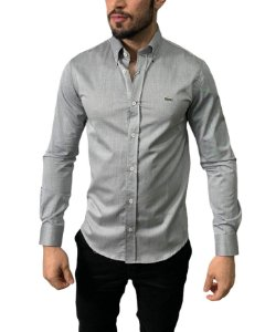 Camisa Lacoste Cinza