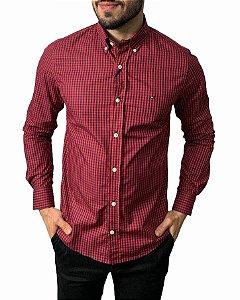 Camisa Tommy Hilfiger Xadrez Vermelha