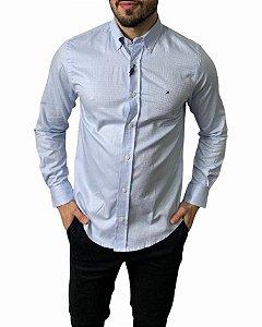 Camisa Tommy Hilfiger Xadrez Pied Poule Azul