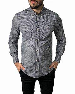 Camisa Tommy Hilfiger Xadrez Pied Poule Preta