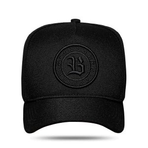 Boné Blck Snapback The Leader All Black