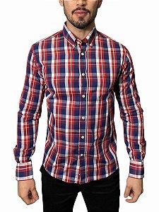Camisa Ralph Lauren Xadrez Vermelha / Marinho