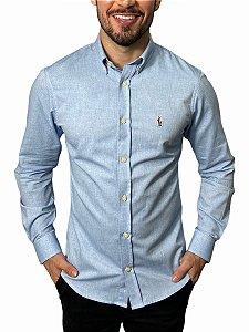 Camisa Ralph Lauren Oxford Azul Clara