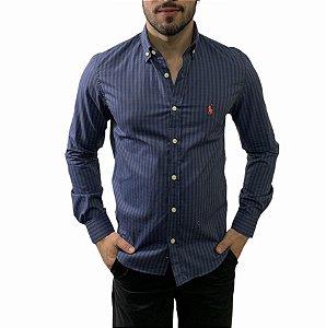 Camisa Ralph Lauren Xadrez Marinho