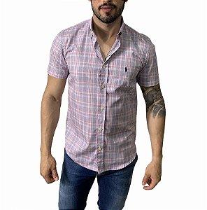 Camisa Ralph Lauren Xadrez Rosa