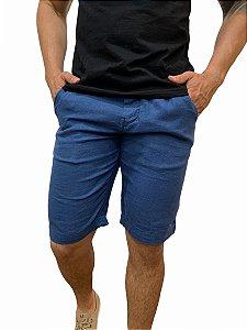 Bermuda Ralph Lauren Linho Azul
