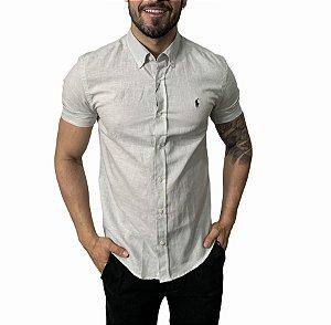 Camisa Ralph Lauren Linho Gelo