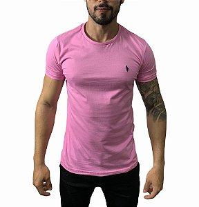 Camiseta Ralph Lauren Básica Rosa