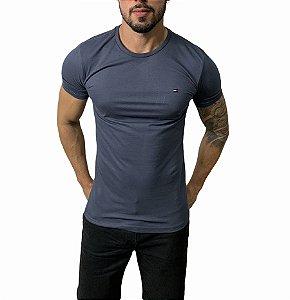Camiseta Tommy Hilfiger Básica Azul Chumbo