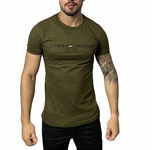 Camiseta Tommy Hilfiger 1985 Verde Militar