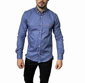 Camisa Ralph Lauren Quadriculada Azul Egeu