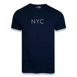 Camiseta New Era Botany NYC Marinho