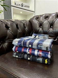 Kit com 3 Camisas Ralph Lauren Xadrez