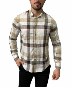 Camisa Reserva Linho Flame Textura Xadrez