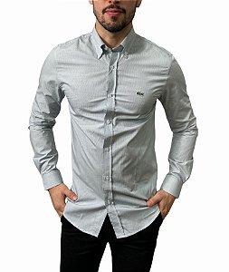 Camisa Lacoste Quadriculada Branca Verde