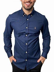 Camisa Ralph Lauren Oxford Marinho