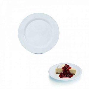 Prato de sobremesa melamina - 20cm (Branco ou Decorado)