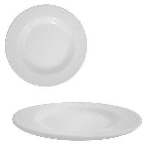 Prato mesa melamina - 25cm (Branco)