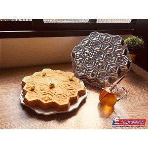forma bolo pão de mel - colméia