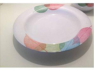 prato fundo em melamina decorado