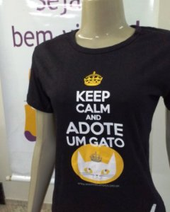 Camiseta Keep Calm - Estampa nova! Baby Look