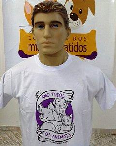 Camiseta Amo todos os animais - Tradicional