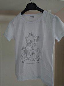 Camiseta Alma de Gato - Baby Look Branca