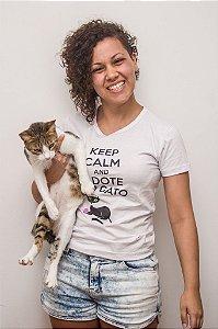 Keep Calm e Adote um Gato - Baby Look