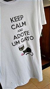 Keep Calm e Adote um Gato - Tradicional