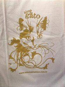 Camiseta tradicional Alma de Gato - Branca com Dourado