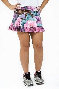 Saia shorts de babado - Estampada