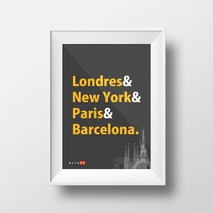 Pôster Cidades do Mundo - Colorido