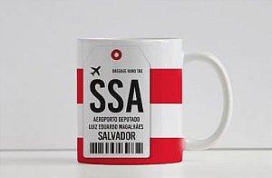 Caneca Aeroporto SSA - Deputado Luiz Eduardo Magalhães -  Bahia - Salvador