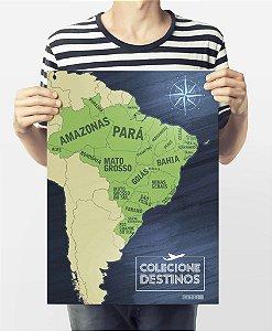 Mapa Brasil  - Colecione Destinos