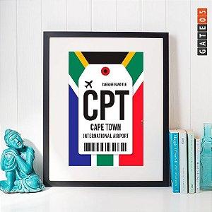 Poster Aeroporto CPT- CapeTown - África do Sul