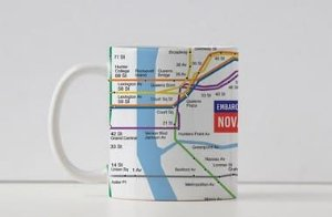 Caneca Coleção Embarque pelo Mundo - Metrô Nova Iorque
